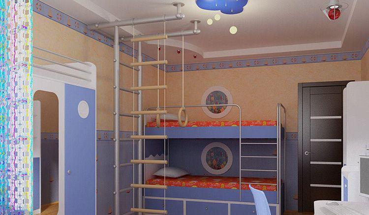 Важно сделать в комнате ребёнка спортивный уголок