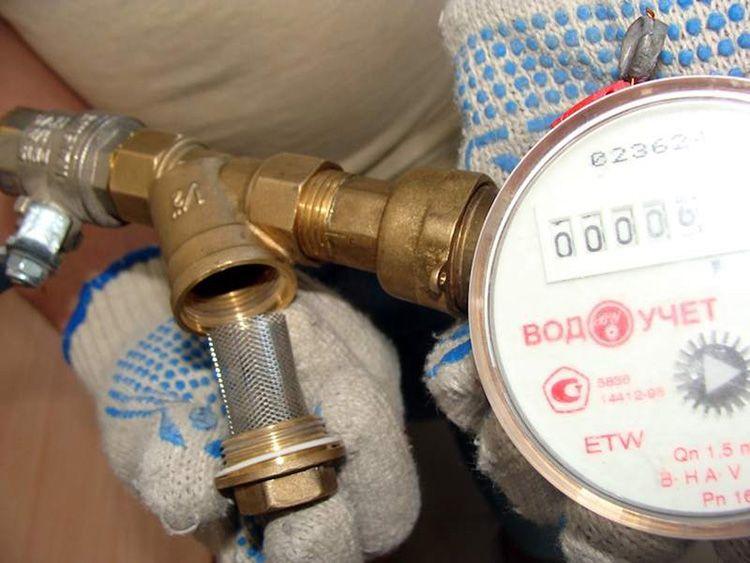 Через фильтр в основном и происходит остановка водомера