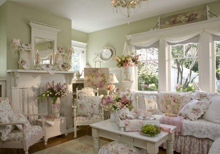 Стиль прованс в гостиной – традиционно много текстиля