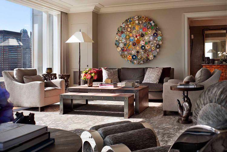 Фото мебели для зала в современном стиле, которая сама по себе может служить хорошим украшением гостиной