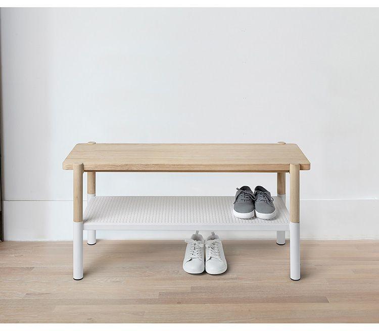 Пластиковая скамейка с обувной полочкой для прихожей