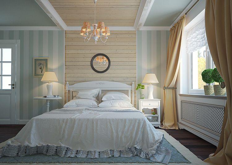 Тканевые абажуры прикроватных ламп обеспечат вечером мягкое и комфортное освещение