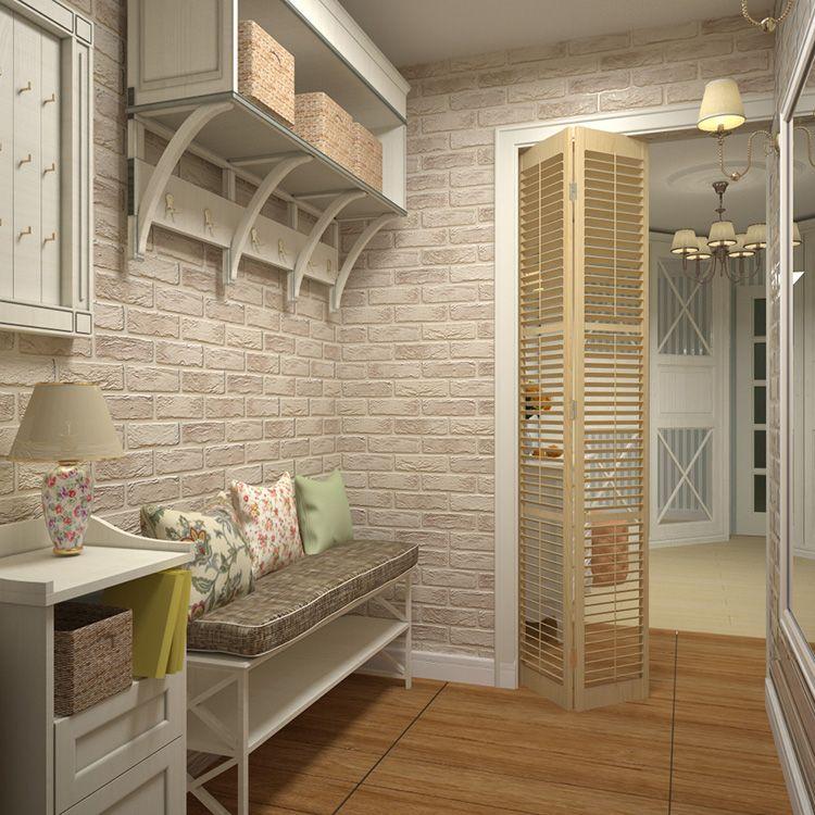 Прихожая в стиле прованс с минимальным набором мебели