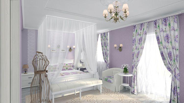 Ткани, используемые при оформлении спальни в прованском стиле, должны быть только натуральными