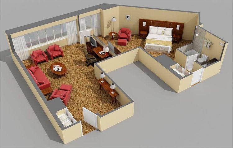 Если есть возможность можно сделать на компьютере при помощи специальных программ 3D визуализацию проекта