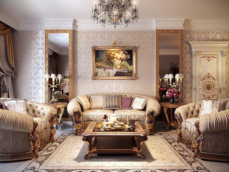 «Классическая» гостиная в квартире