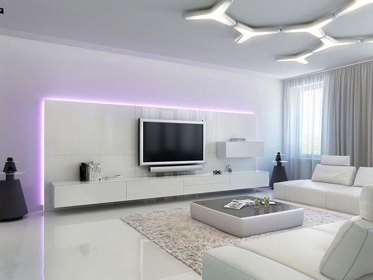 Гостиная квартиры в стиле хай-тек