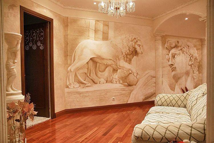Тематику фрески в квартиру нужно выбирать очень аккуратно