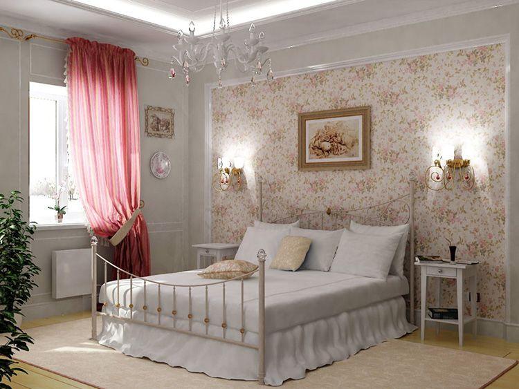 В стиле «прованс» может быть оформлена только одна спальня