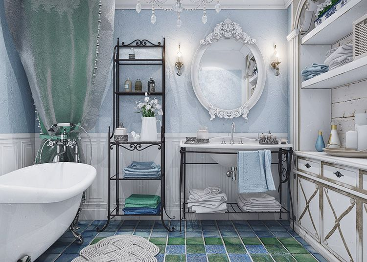 Если в ванной нет окна, то светлая отделка позволит зрительно увеличить пространство