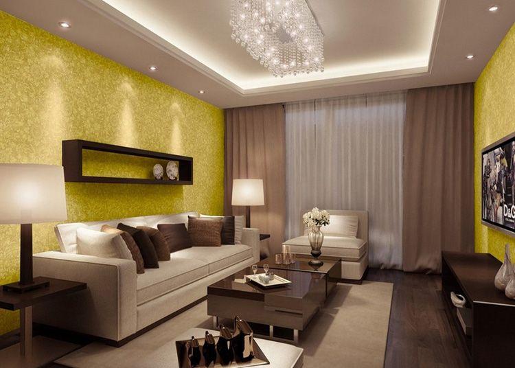 При оформлении гостиной нужно принимать габариты помещения