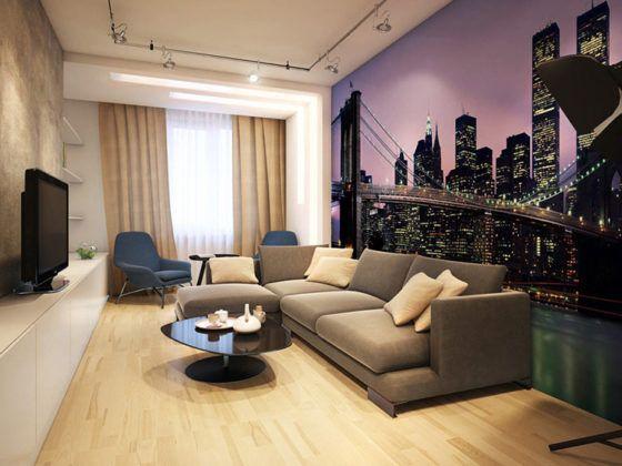 Создаём дизайн зала в квартире: материалы, планировка, стилевое решение