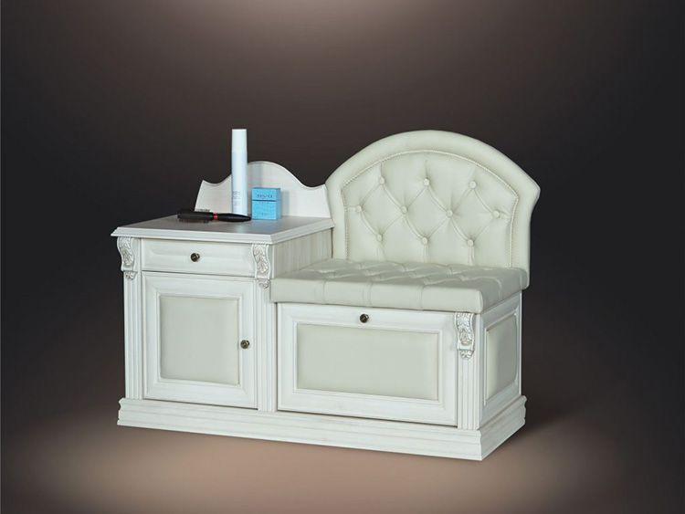 Банкетка «классика» с мягким сиденьем и ящиков для мелочей