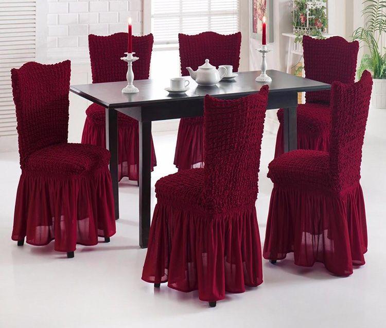 Игра на контрасте или аксессуар в тон? Чехлы на стулья могут быть разными, но всегда подчеркнут вкус хозяйки и создадут неповторимую атмосферу торжества.