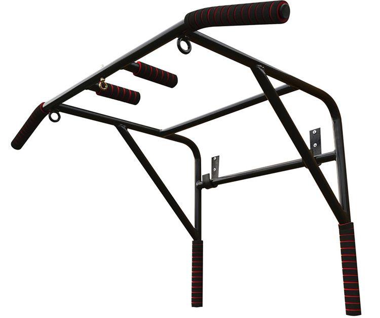 В этом случае к конструкции турника добавляют специальные ручки, позволяющие делать упражнения на определённые группы мышц: спины, трапецию и передние дельты