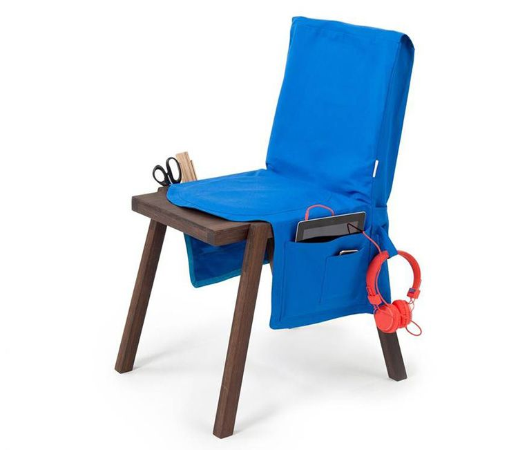 Чехол для сиденья стула можно использовать как отдельный элемент декора, украсив его эффектным бантом или полезным и вместительным кармашком для мелочей