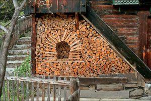 Правильно храним дрова на даче и дома