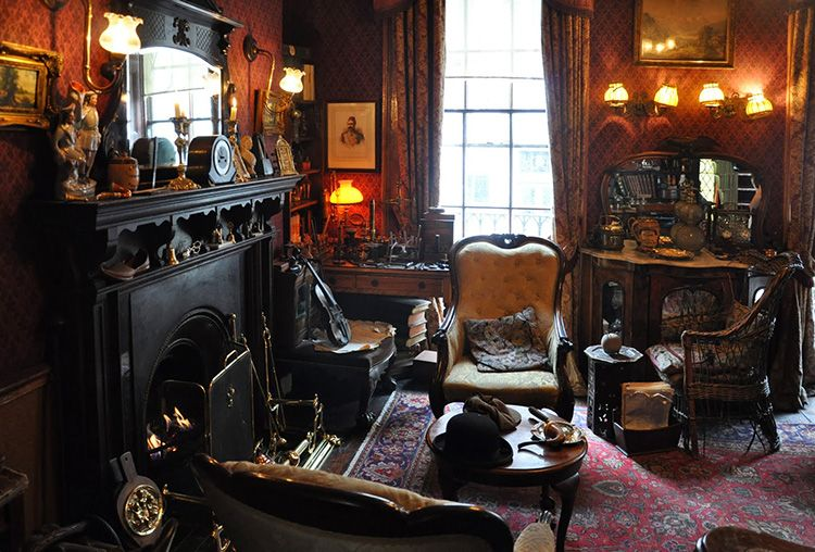 Гостиная Шерлока Холмса – яркий пример английского интерьера