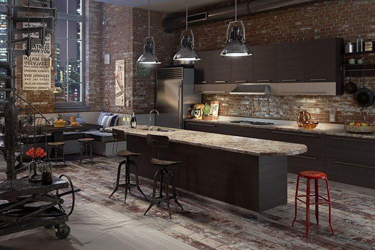 Кухонный гарнитур «лофт» отличается простотой и функциональностью