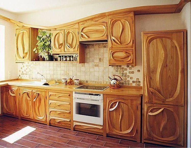 Шикарные деревянные фасады ручной работы