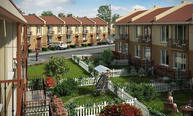 Фото, объясняющее, что это такое таунхаус: многоуровневая квартира с преимуществами частного дома