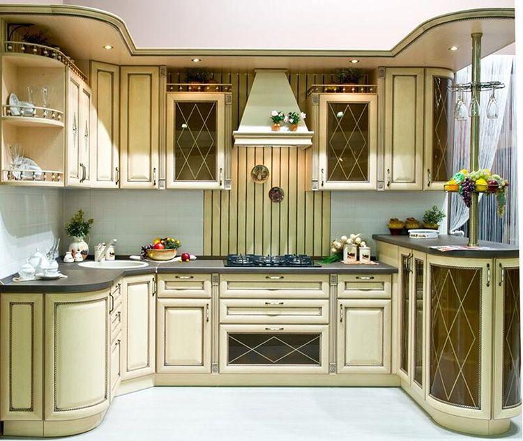 Фото кухонного гарнитура цвета слоновой кости