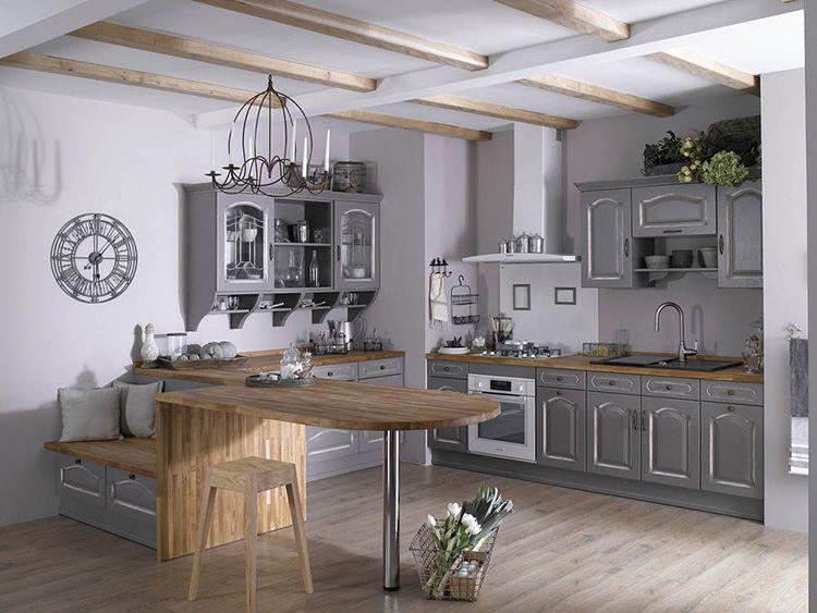 Кухня в скандинавском стиле в серебристых тонах