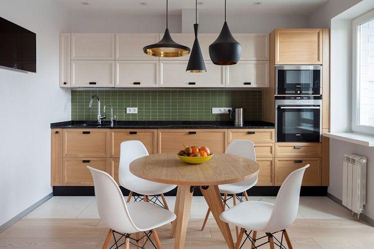 Мебель для рабочей зоны в скандинавском стиле может изготавливаться из разных материалов (ЛДСП, МДФ, фанера или натуральное дерево)
