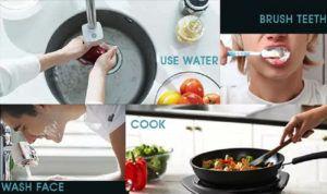 Умную насадку можно установить на смесители в кухне и ванной комнате