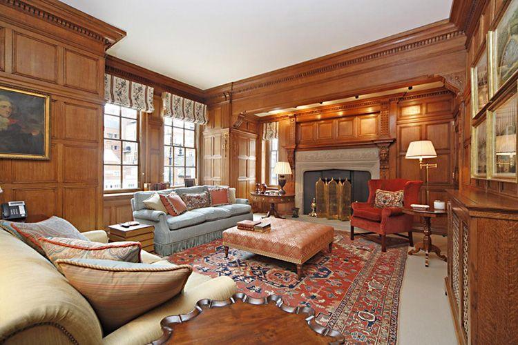 Потолки гостиной в английском «викторианском» стиле