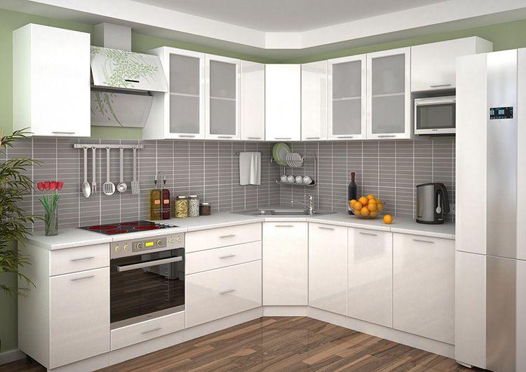 Фото белого кухонного гарнитура в интерьере