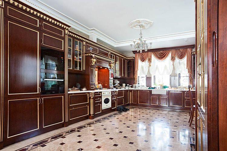 Полы кухни в викторианском стиле