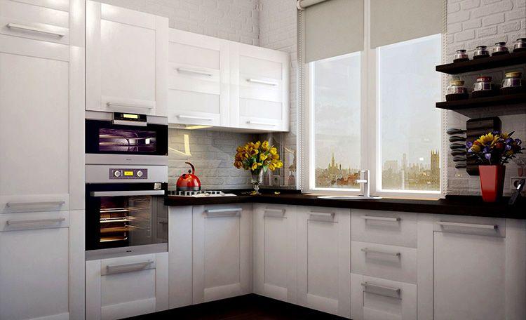 Фото дизайна углового кухонного гарнитура