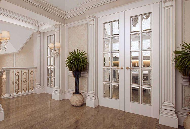 Межкомнатные двери с остеклением пропускают дополнительный свет, что важно для помещений в глубине дома или квартиры