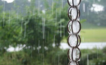 Сажаем дождь на цепь, или Как организовать водосток по-японски