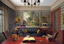 Поклонникам Шерлока Холмса: интерьеры в английском стиле (60+ фото)
