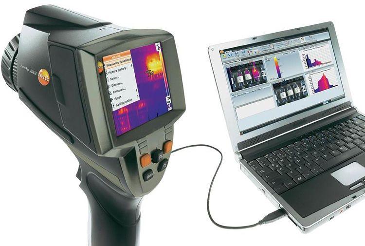 Testo 882 обладает достаточным разрешением ИК-датчика − 640×480 пикселей