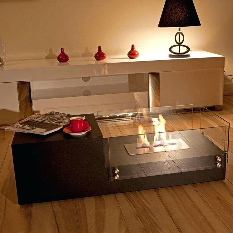 Журнальный столик с огнём