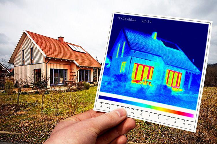 Термокарта дома позволяет точно выявить потери тепла и вовремя решить проблему с теплоизоляцией