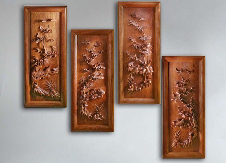 Дуб, тик, берёза, кедр – натуральные элементы или резные композиции прекрасно подойдут к любому интерьеру.