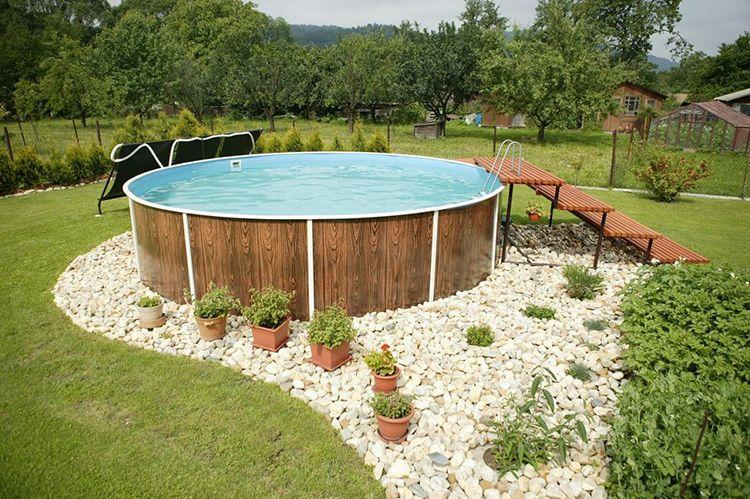 Каркасный бассейн впишется в любой дизайн ландшафта