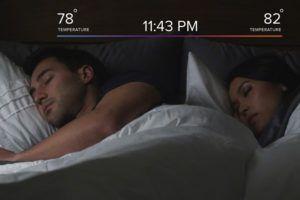 Чехол подстроит оптимальную температуру под каждого из спящих персонально