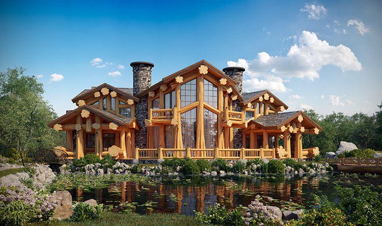При сборке домов из калиброванного бруса используется больше креплений и нагелей.