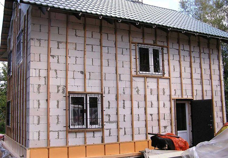 обрешетка фасада