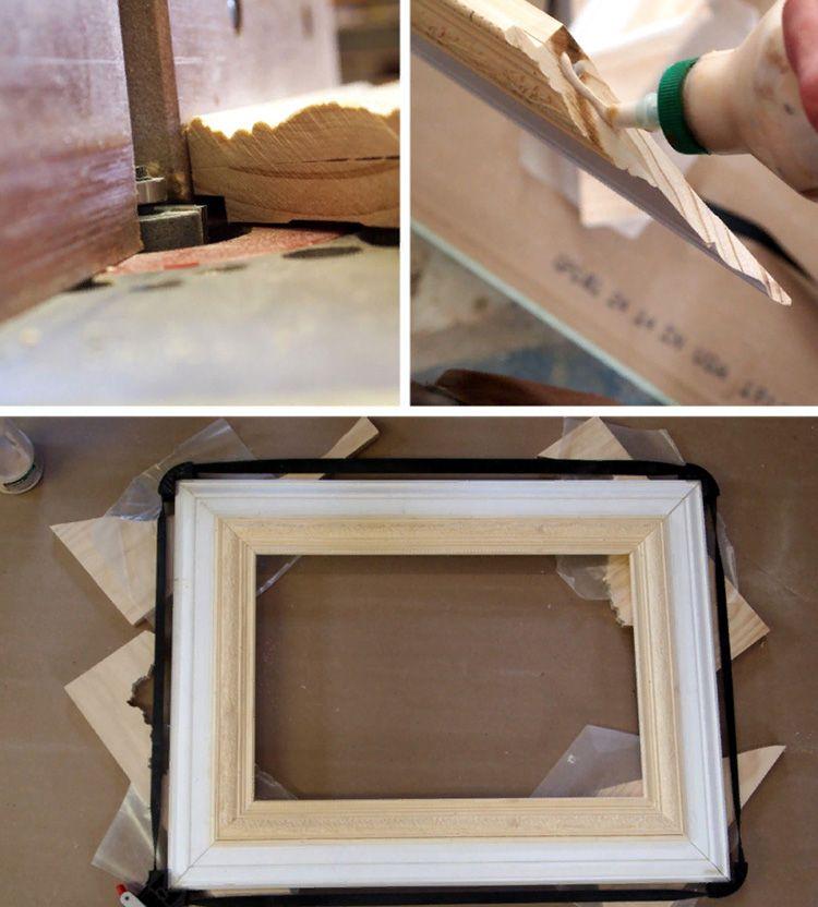 Деревянная рамка из плинтуса.
