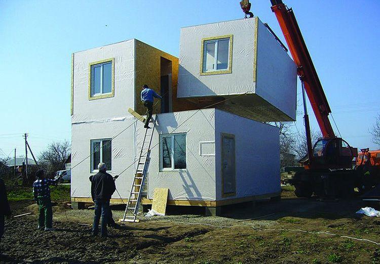 Сборка конструкции выполняется на строительной площадке