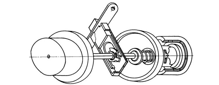 Схема устройства межкомнатной защелки