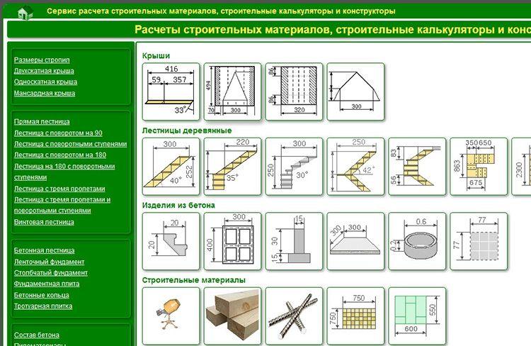 Огромной популярностью пользуется строительный калькулятор Builder