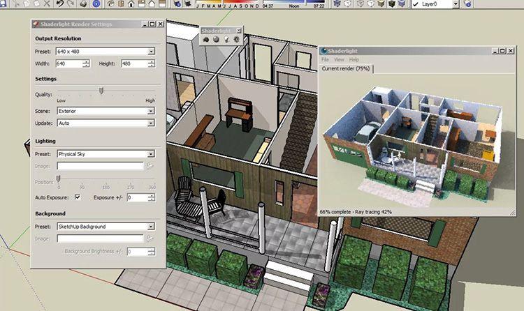 Эта программа познакомит вас с тонкостями моделирования с азов. Вы научитесь рисовать, измерять вращать предметы, «играть» с текстурами, создавать презентации, а также совершать 3D-экскурсии по созданному вами дому.