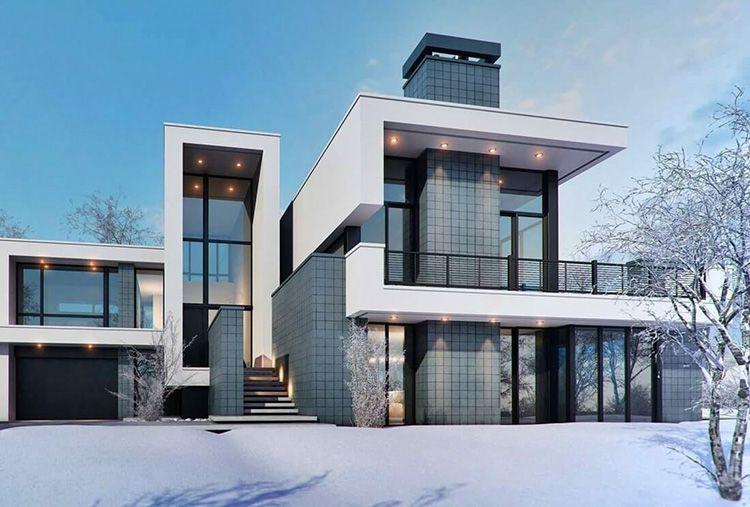 При грамотно построенной системе теплоснабжения в таком доме будет тепло и суровой зимой